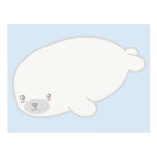 Cría de foca linda postal