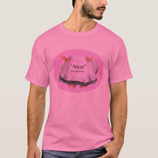 Criada a servir camiseta