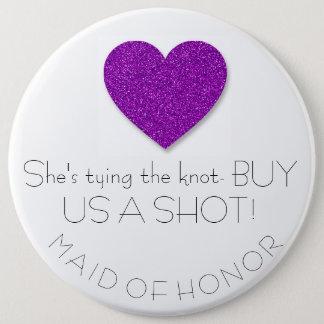 Criada de Bachelorette del botón del honor