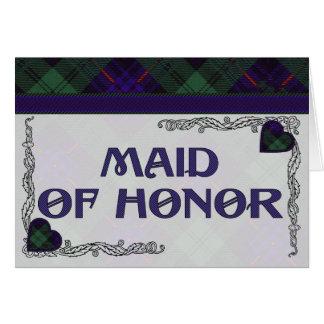 Criada de la invitación del honor - tartán de Nico Felicitaciones