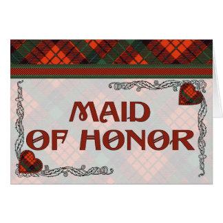 Criada de la invitación del honor - tartán de Nico Felicitación