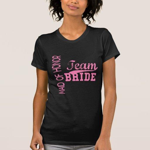 CRIADA de la novia 1 del equipo del HONOR Camisetas