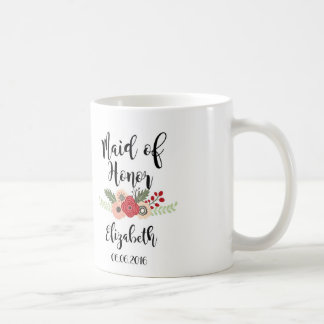 Criada de la taza de café del honor