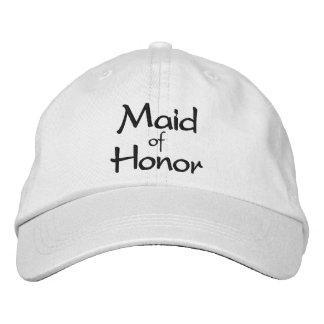Criada del casquillo bordado del honor gorra bordada