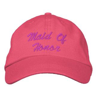 Criada del gorra bordado del honor