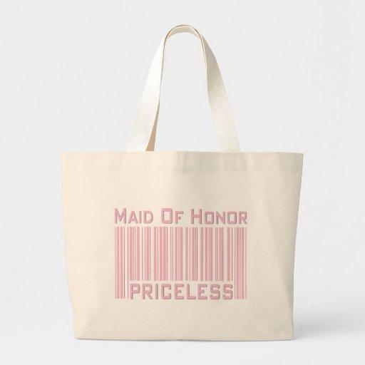 Criada del honor inestimable bolsa tela grande