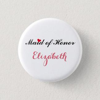 Criada del honor que casa el botón del fiesta de