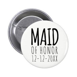 Criada moderna del botón del Pin del honor con la