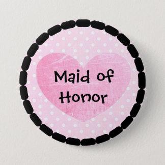 Criada rosada y negra del botón nupcial de la
