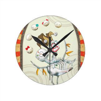 Criatura esquelética - gemelos reloj redondo mediano