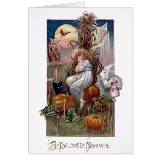 Criaturas y mujer de pesadilla de Halloween Tarjeta De Felicitación
