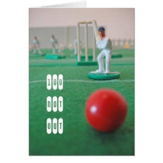 Cricket el 100o cumpleaños tarjeta de felicitación