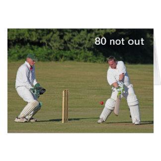 Cricket la 80.a tarjeta de cumpleaños