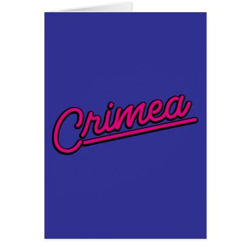 Crimea en magenta tarjeton