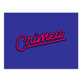 Crimea en magenta postal