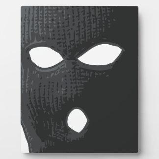criminal-máscara placa expositora