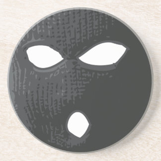 criminal-máscara posavasos de arenisca