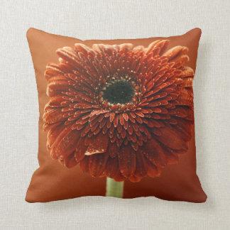 Crisantemo anaranjado cojín decorativo