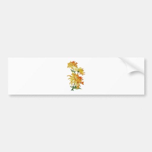 Crisantemo chino de oro bordado pegatina de parachoque