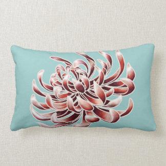 Crisantemo del batik cojín lumbar