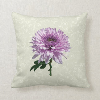 Crisantemo magenta ligero cojín decorativo