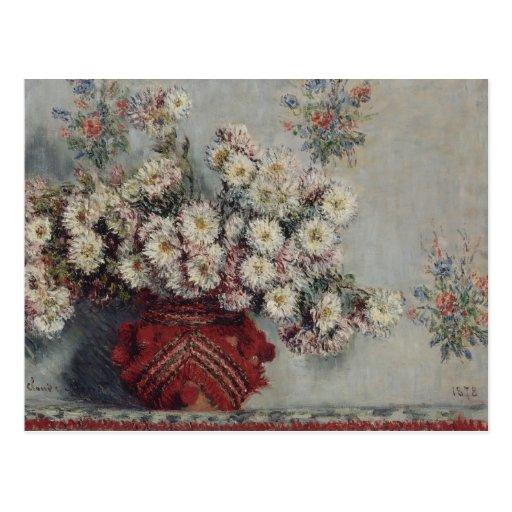 Crisantemos - Claude Monet Tarjeta Postal