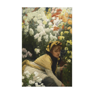 Crisantemos por la bella arte de James Tissot