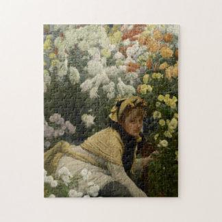 Crisantemos por la bella arte de James Tissot Puzzle