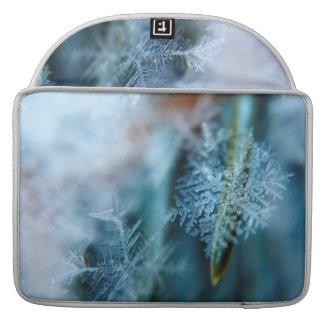 Cristal de hielo, invierno, nieve, naturaleza funda para MacBook pro