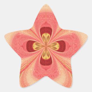Cristal del diamante: Pétalos de RedRose PinkRose Calcomania Forma De Estrella Personalizadas