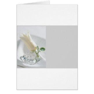 Cristal del tulipán tarjeta de felicitación