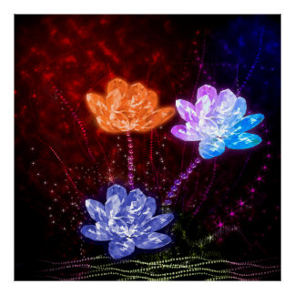 Cristal Lotus del Tripple Póster