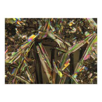 Cristales debajo del microscopio/del aluminato anuncios personalizados