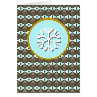 Cristales del hielo - copo de nieve tarjeta de felicitación