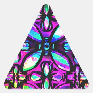 Cristales multicolores pegatina triangular