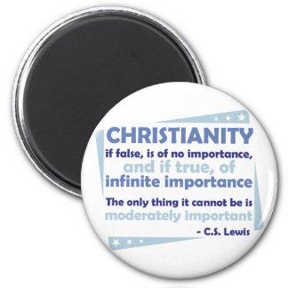 Cristianismo - de la importancia infinita iman de frigorífico