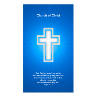 Cristiano - azul marino tarjetas de visita