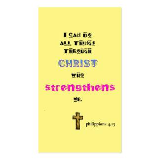 Cristiano bíblico de la escritura tarjetas de visita