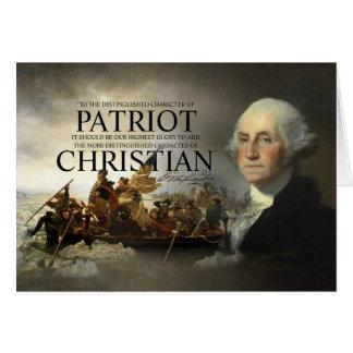 Cristiano de George Washington Tarjeta De Felicitación