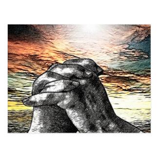 Cristiano del católico de la mañana de oración tarjeta postal