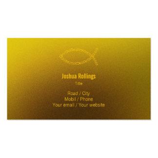 Cristiano el | de oro tarjetas de visita