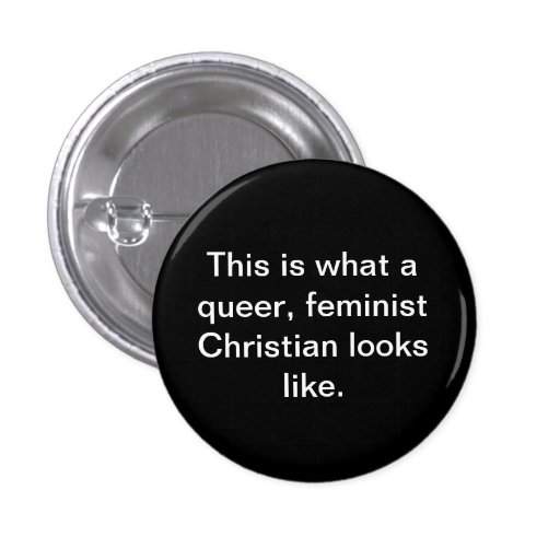 Cristiano feminista raro pin