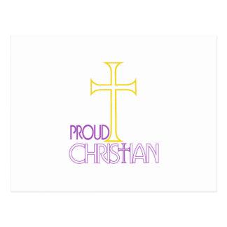 Cristiano orgulloso postal