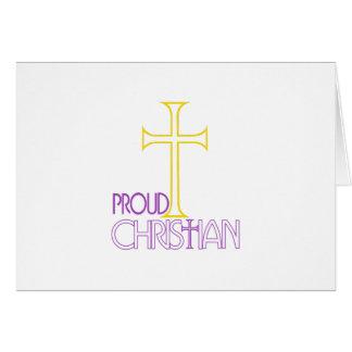 Cristiano orgulloso tarjeta de felicitación
