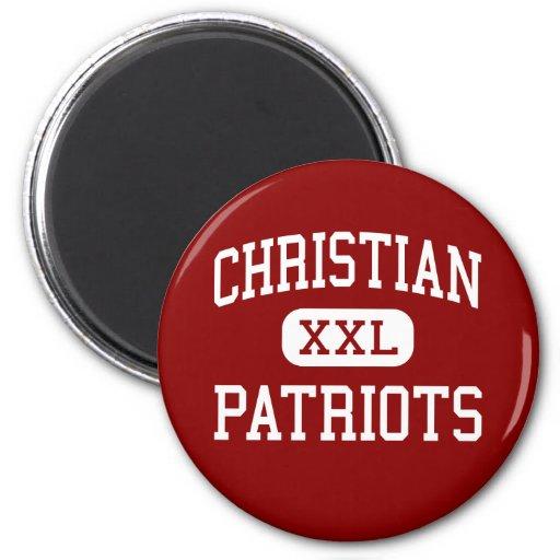 Cristiano - patriotas - mayor - EL Cajon Imán Para Frigorífico