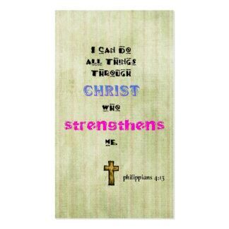 Cristiano Scriptural de la tipografía de la cita Tarjetas De Visita