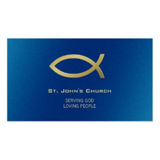 Cristiano - tarjeta de visita azul de oro