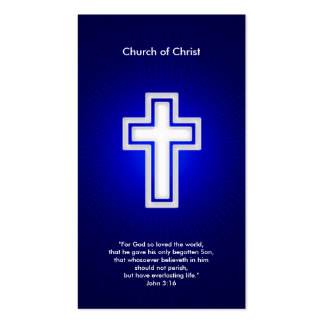 Cristiano - tarjeta de visita azul marino
