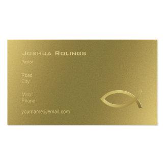 Cristiano - tarjeta de visita de oro