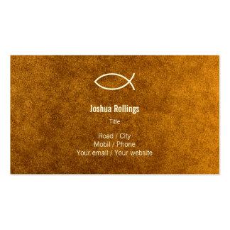 Cristiano - tarjeta de visita del oro